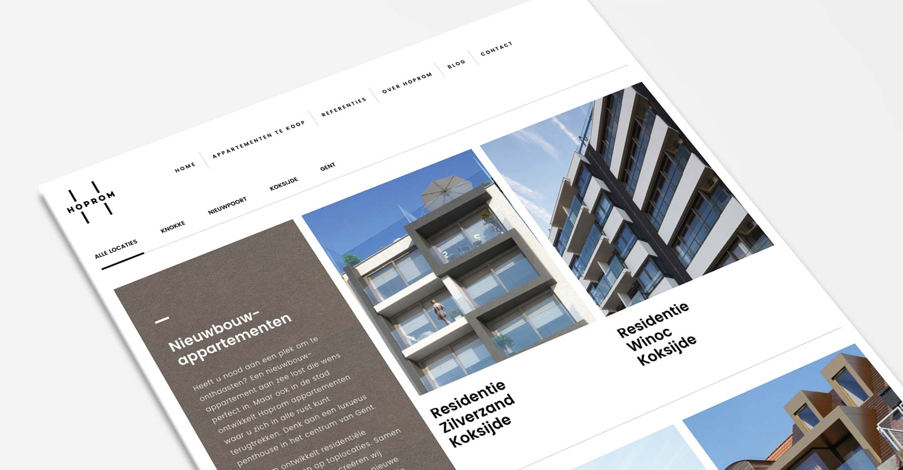 Hoprom WordPress website for real estate