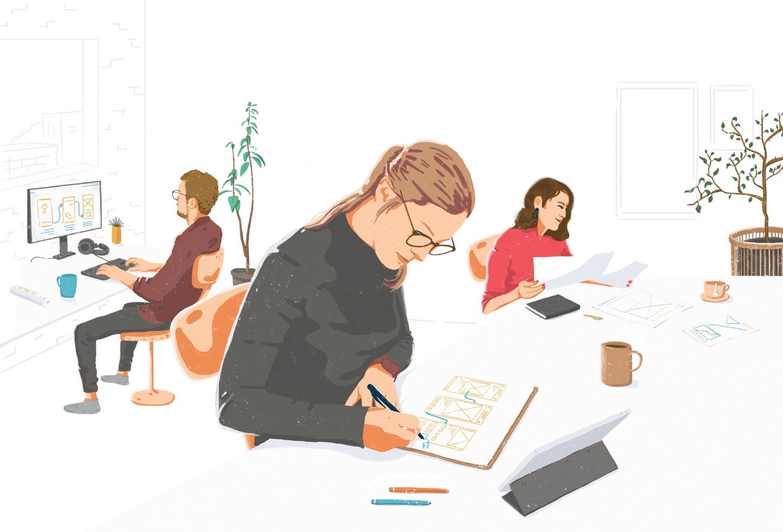 Web Design Cartoon Illustrations