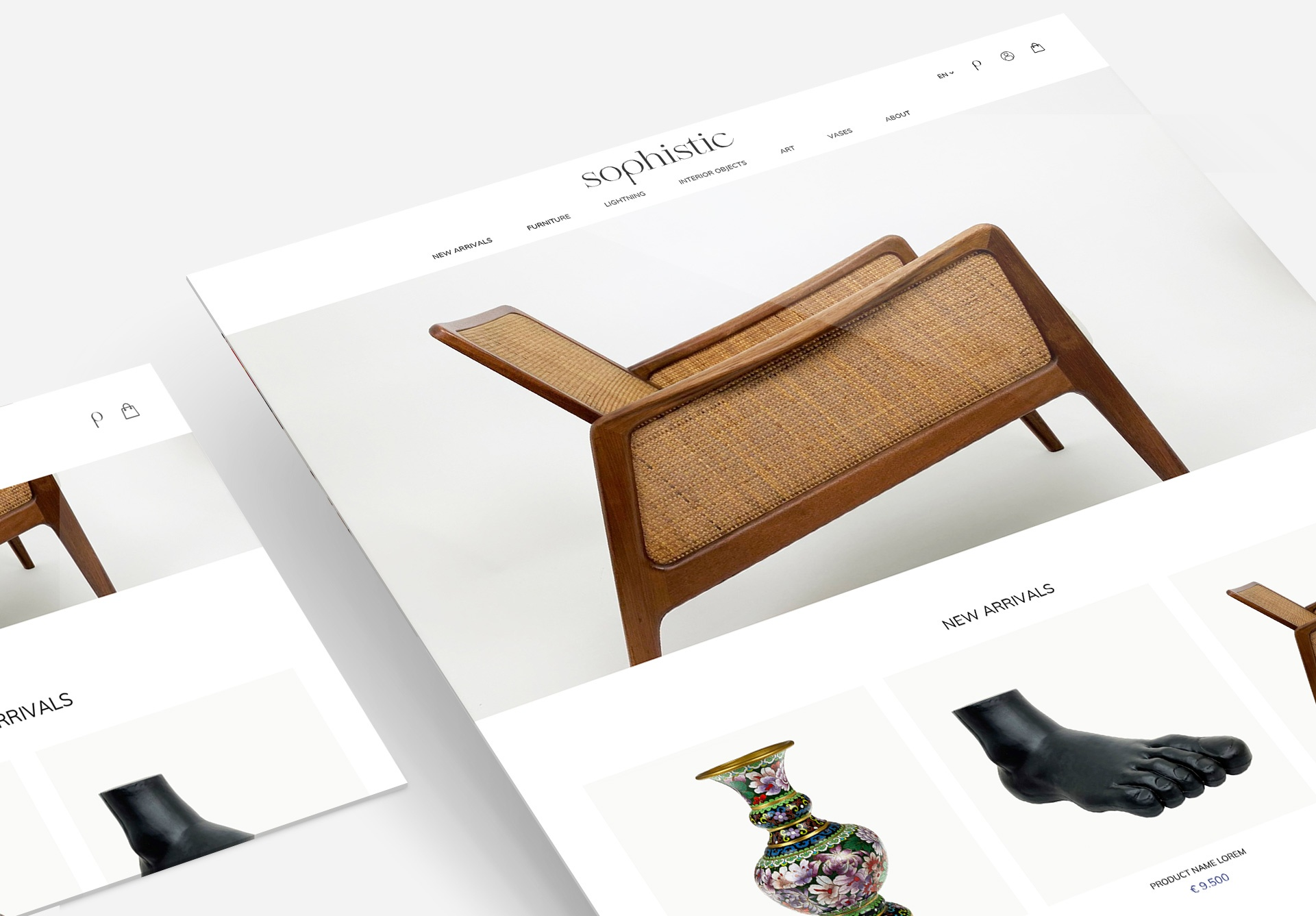 lay-out webshop Sophistic