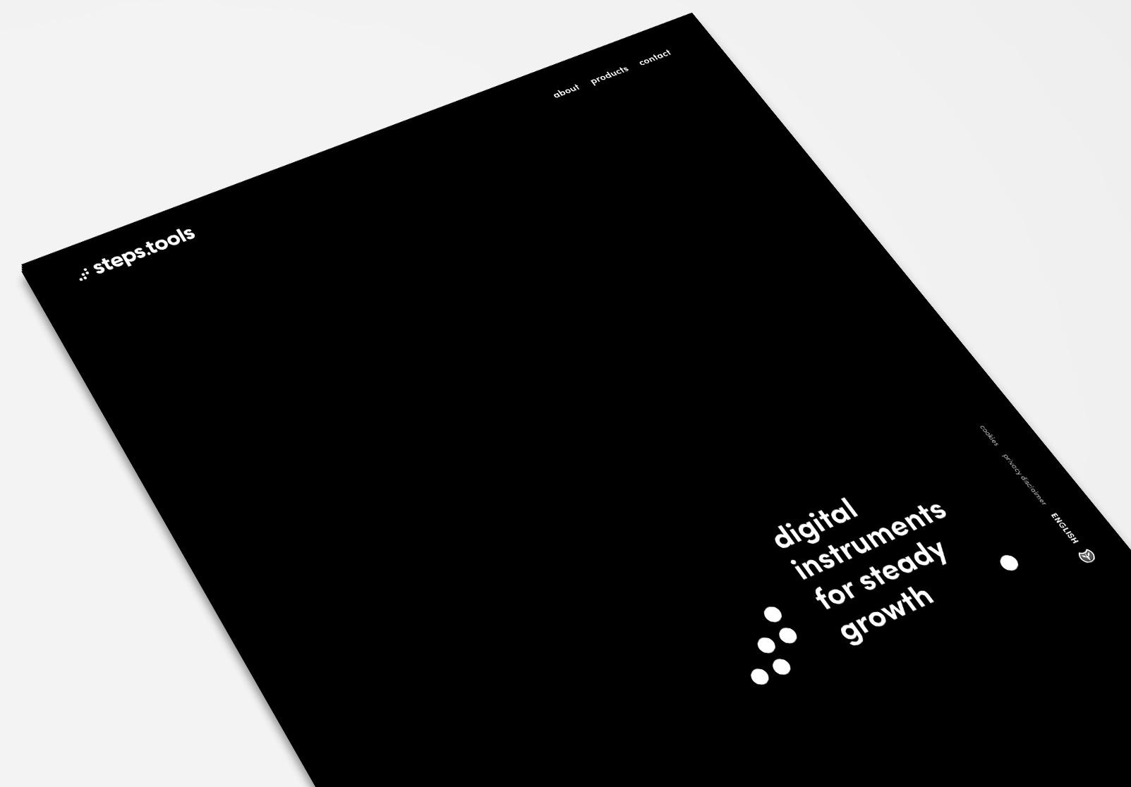 black and white web design